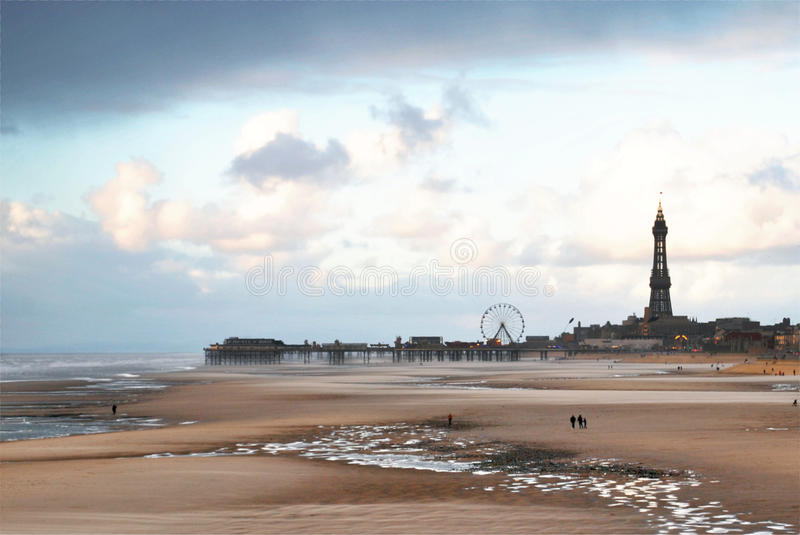 Blackpool Beach royalty free stock images