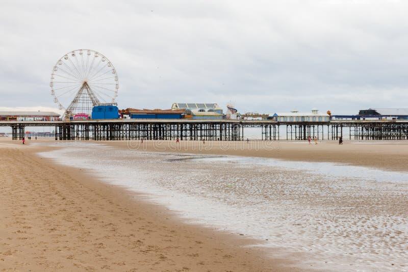 Blackpool Central Pier with Ferris Wheel, Lancashire, England, U stock photos