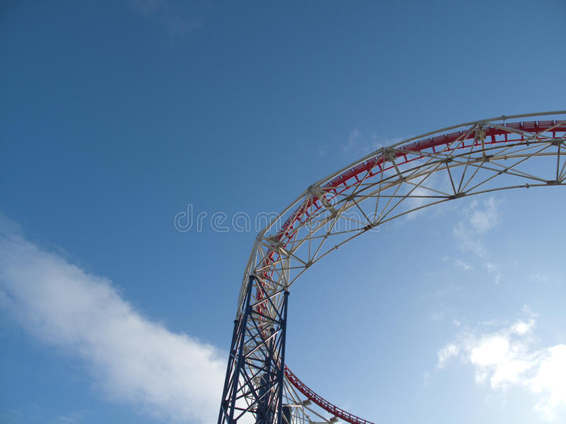 Blackpool - Rollercoaster royalty free stock images