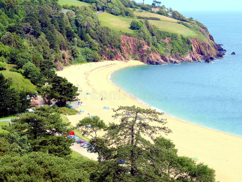 Blackpool Sands, Devon. royalty free stock images