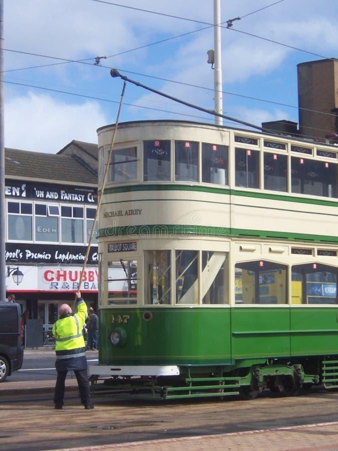 Blackpool spårvagn royaltyfria foton