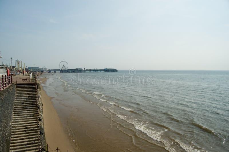 Blackpool, strand en overzees royalty-vrije stock afbeeldingen
