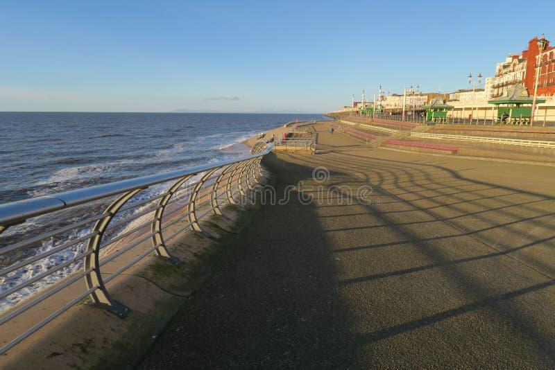 Blackpool-Strand-Esplanade stockfotos