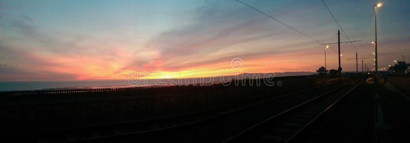A Blackpool Sunset stock photo