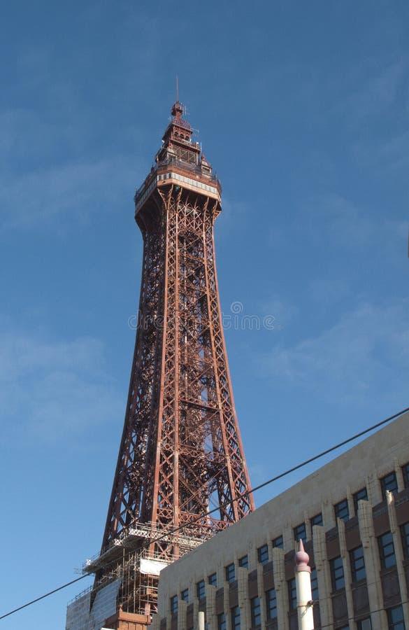 Blackpool tower - blue sky stock image