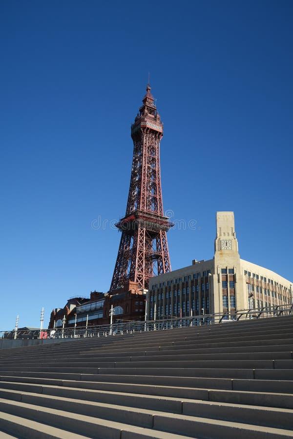 Blackpool-Turm, Blackpool, Lancashire, Großbritannien lizenzfreie stockbilder