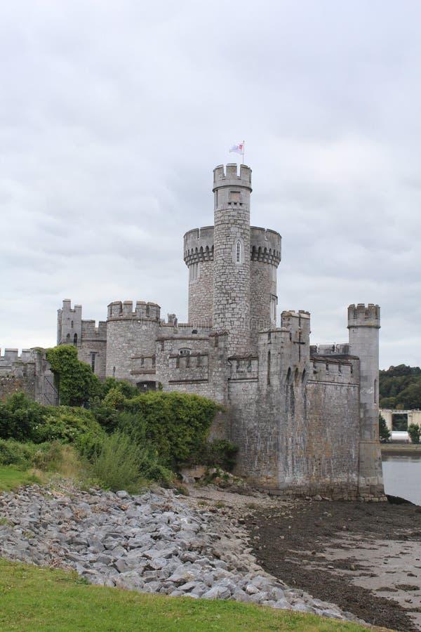 Blackrock城堡黄柏爱尔兰侧视图 库存图片