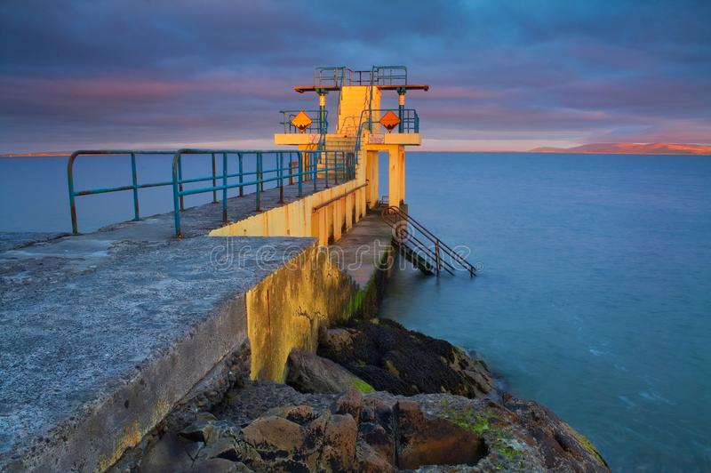 Blackrock diving board royalty free stock photo