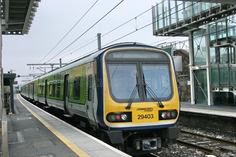 Blackrock station,Ireland, April 2010, an Iarnrod Eireann railway service stock image