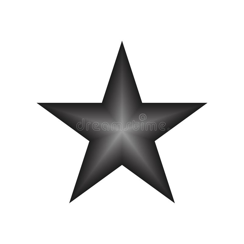 Blacksilver star vector eps10. Rating star icon with gradient rays on white background. royalty free illustration