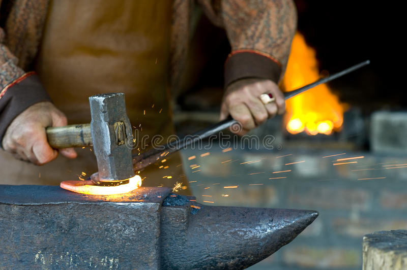 Download Blacksmith stock photo. Image of black, hammering, antique - 10680456