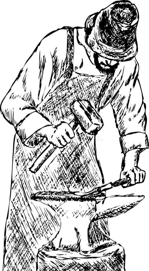 Blacksmith vector illustration