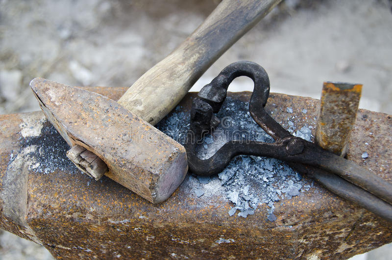 Download Blacksmith anvil stock photo. Image of heavy, rust, medieval - 26841830
