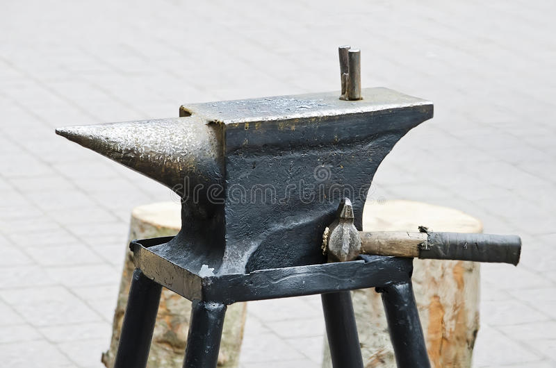 Download Blacksmith anvil stock photo. Image of incus, metal, smithy - 31438088