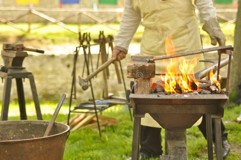 blacksmith działanie zdjęcie royalty free