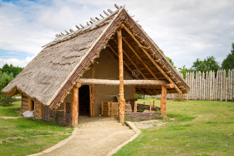 Blacksmith house in faktory village stock photos