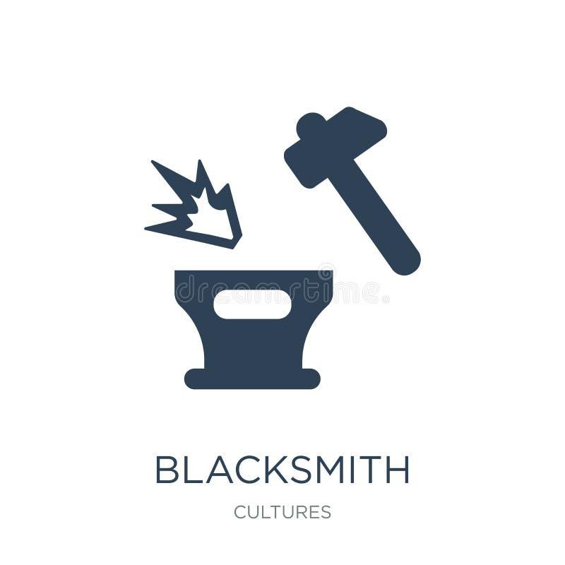 blacksmith ikona w modnym projekta stylu blacksmith ikona odizolowywająca na białym tle blacksmith wektorowa ikona prosta i nowoż royalty ilustracja