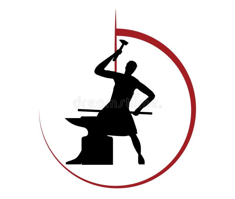 Blacksmith loga projekt ilustracji