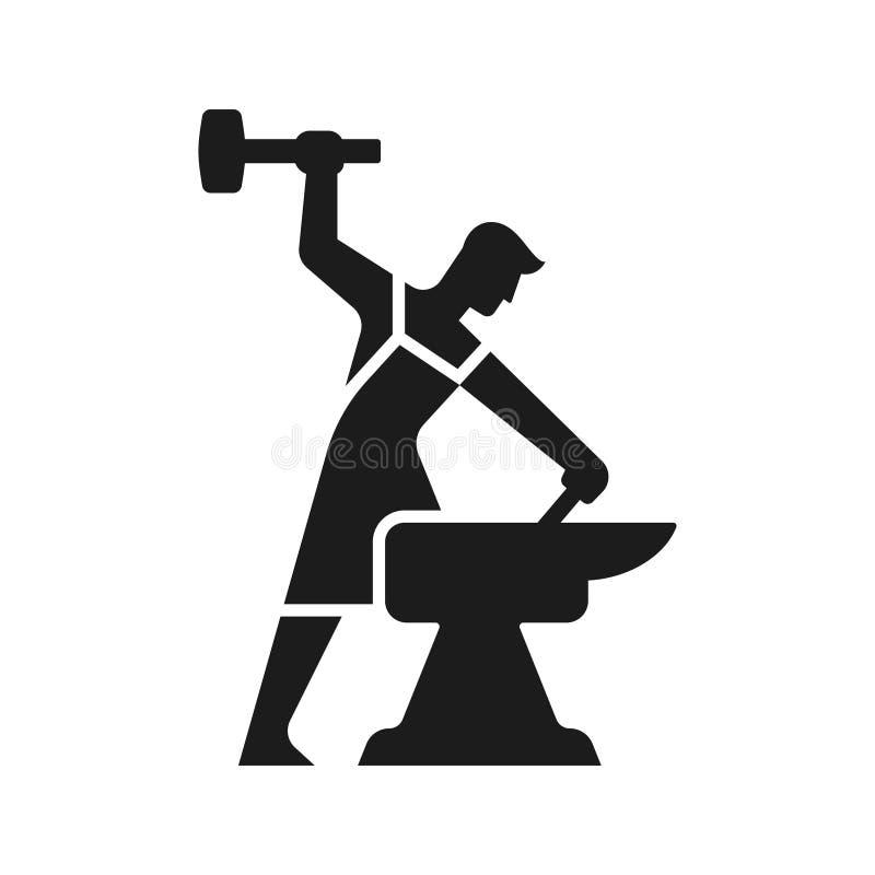 Blacksmith loga sylwetka ilustracji