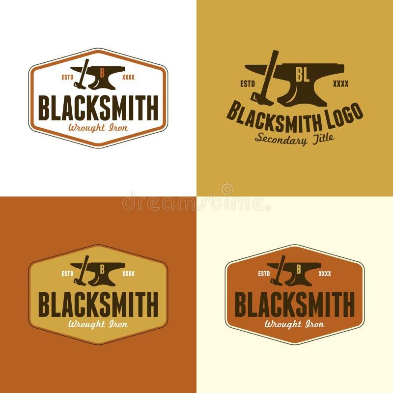 Blacksmith logo r?wnie? zwr?ci? corel ilustracji wektora fotografia stock