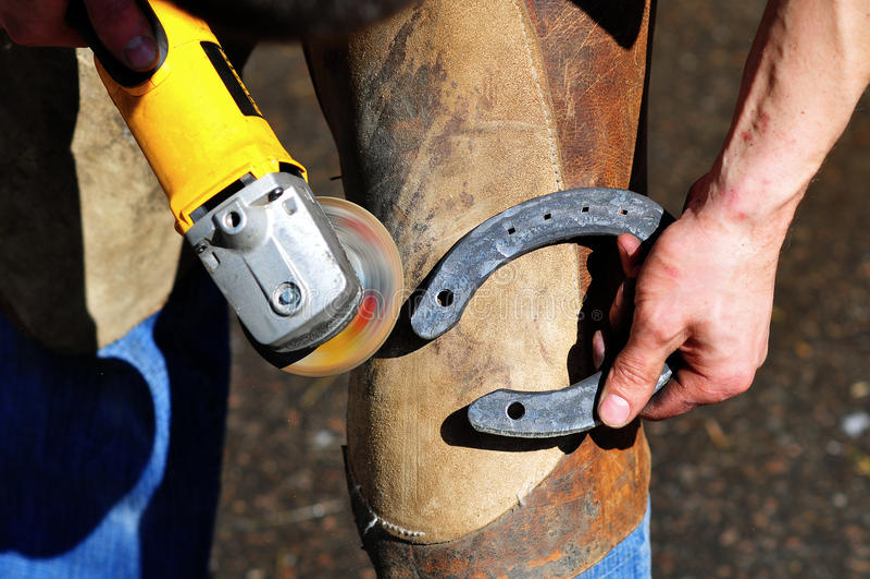 Blacksmith Make A Horseshoe Stock Photos