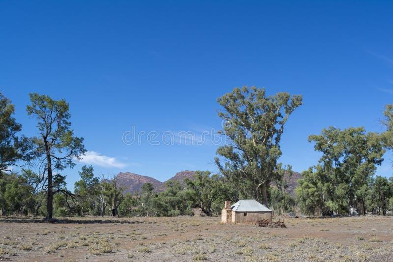 Blacksmith`s Cottage: Old Wilpena Station, Ikara-Flinders Ranges, South Australia. Wilpena Pound, South Australia, Australia - March 15, 2018: Blacksmith`s stock image