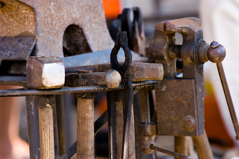 Download Blacksmith's tools stock image. Image of forge, peen, anvil - 3308125