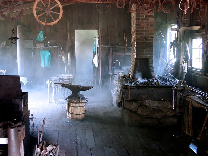 Blacksmith Shop stock photo