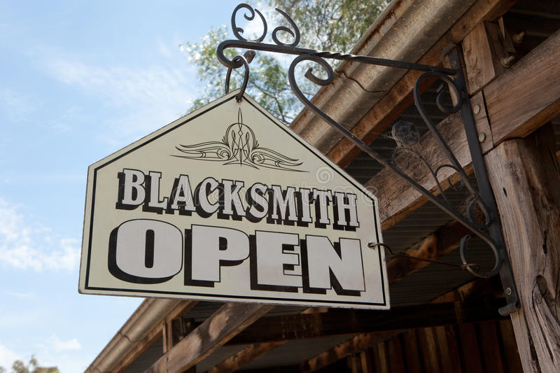 Download Blacksmith Sign stock photo. Image of colonial, horseshoe - 22500206