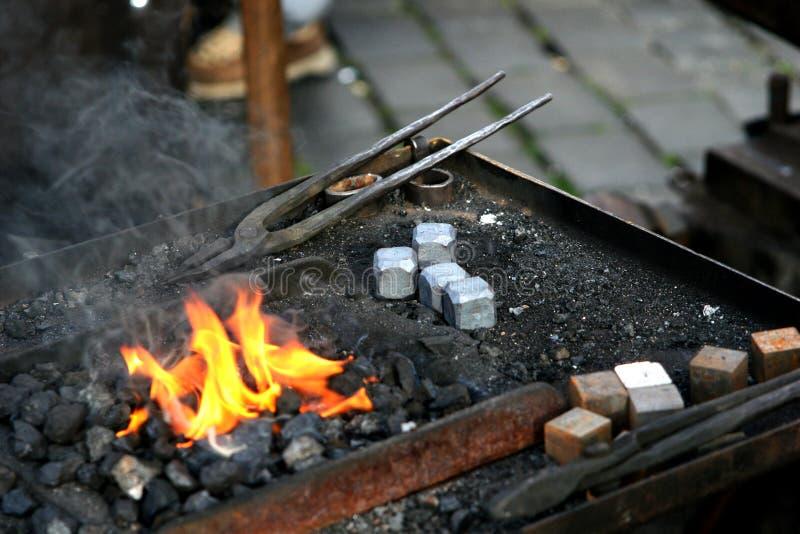 Blacksmith tools stock image