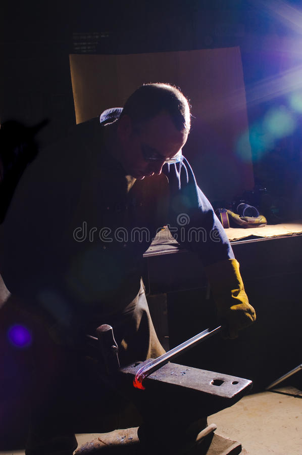 Blacksmith At Work Stock Photography