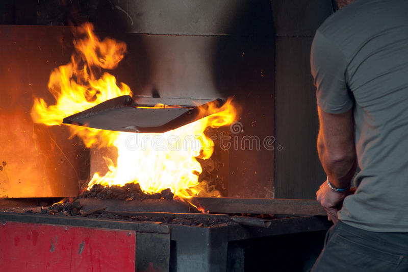 Blacksmith in a work royalty free stock photography