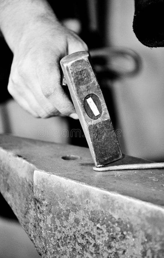 Free Blacksmith Working Closeup Stock Images - 9281184
