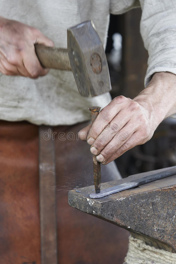 Download Blacksmith working stock image. Image of working, hammer - 31831117