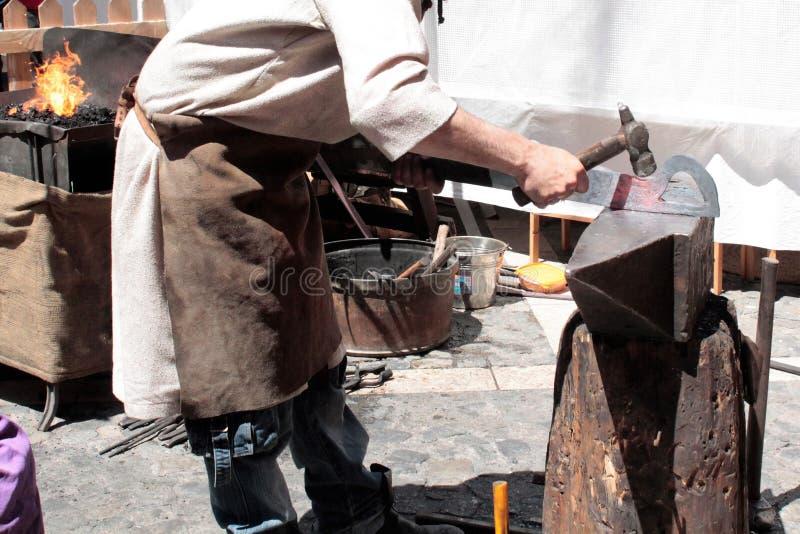 Blacksmith working royalty free stock image
