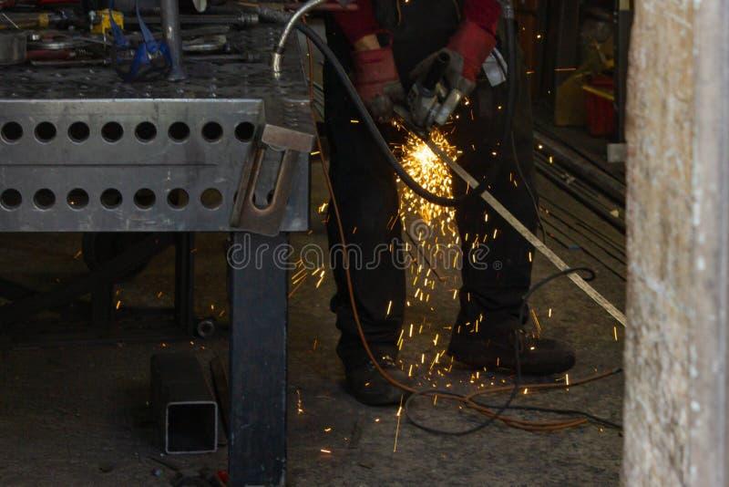 blacksmith workshop stock image