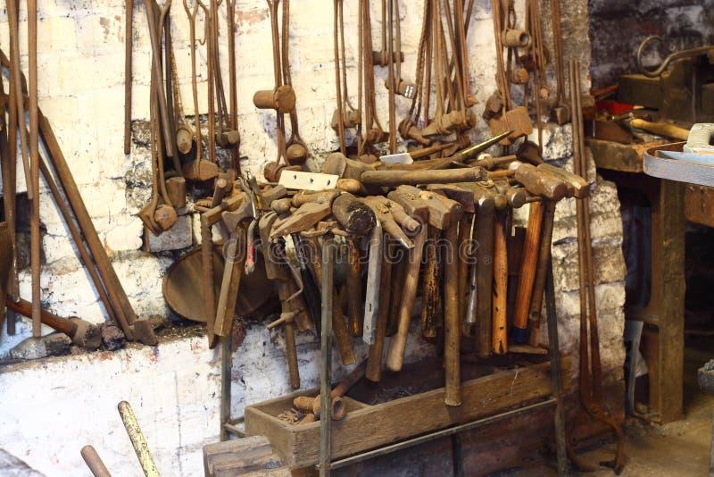Blacksmiths narzędzi b obraz royalty free