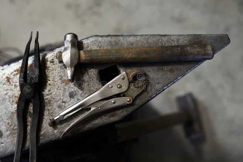 Blacksmiths narzędzia zdjęcia stock