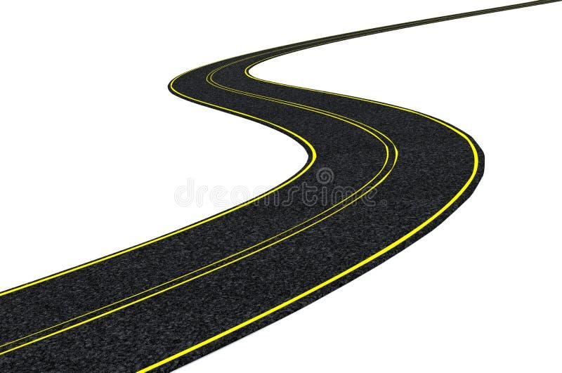 Blacktop tarmac road vector illustration