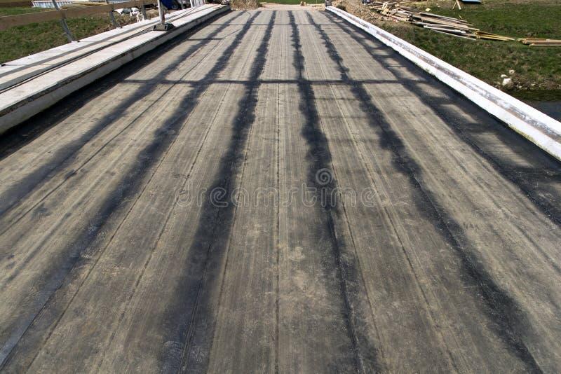 Blacktopstrepen op de grondbasis stock afbeelding