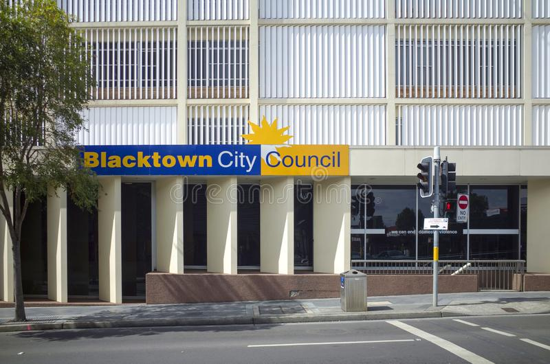 The Blacktown City Council building in Sydney, Australia. Blacktown, Sydney, Australia, 6 September 2018: The Blacktown City Council building in Sydney stock image