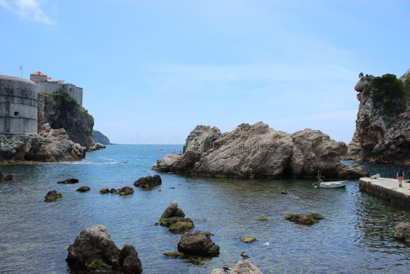 Blackwater-Bucht, die Standort, Dubrovnik, Kroatien filmt stockfotos