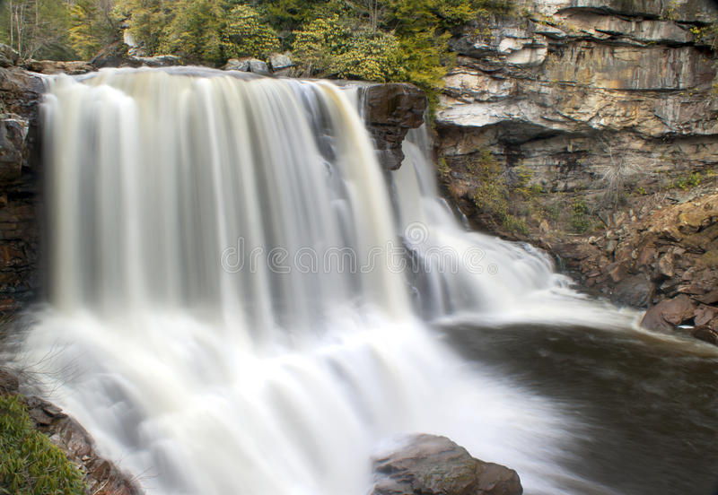 Blackwater Falls in West Virginia. Time exposure of scenic Blackwater Falls in West Virginia royalty free stock photo