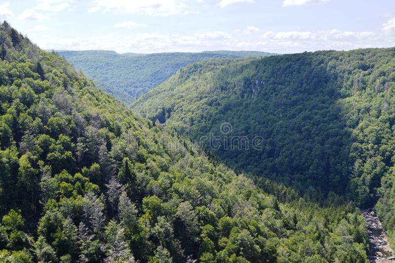 Blackwater Falls, West Virginia stock photos