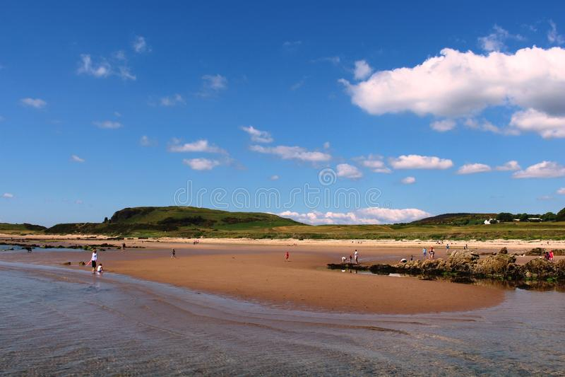 Blackwaterfoot beach, Drumadoon Bay, Arran royalty free stock photos