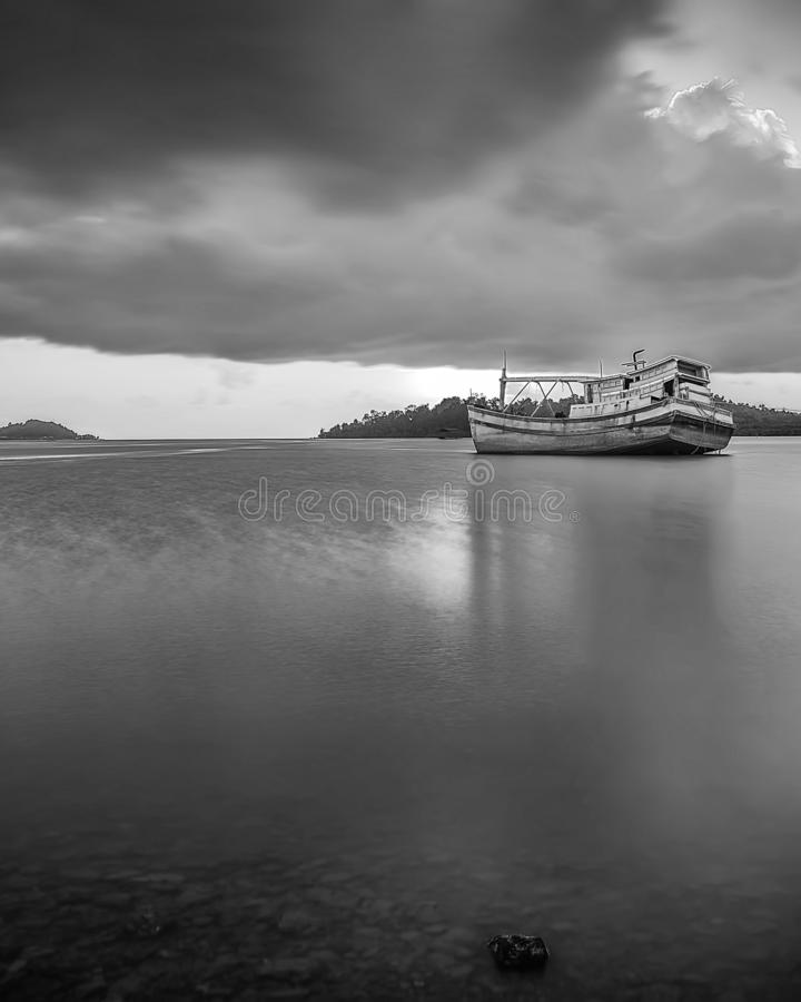 BlackWhite Landscape Photos at Bintan batam Island. Indonesia stock photos