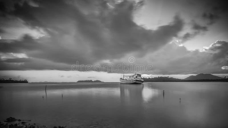 BlackWhite Landscape Photos at Bintan batam Island. Indonesia stock photo