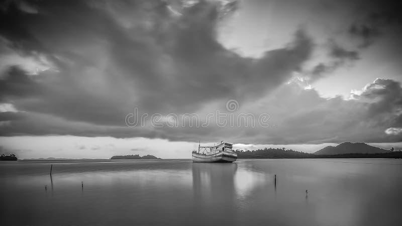 BlackWhite Landscape Photos at Bintan batam Island. Indonesia royalty free stock photography