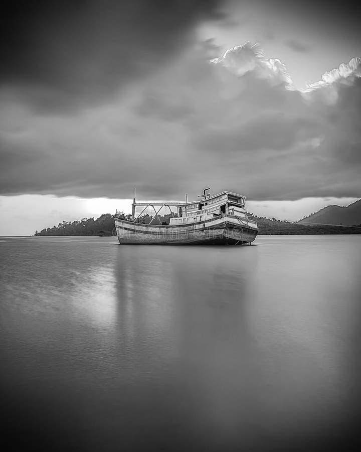 BlackWhite Landscape Photos at Bintan batam Island. Indonesia royalty free stock photos