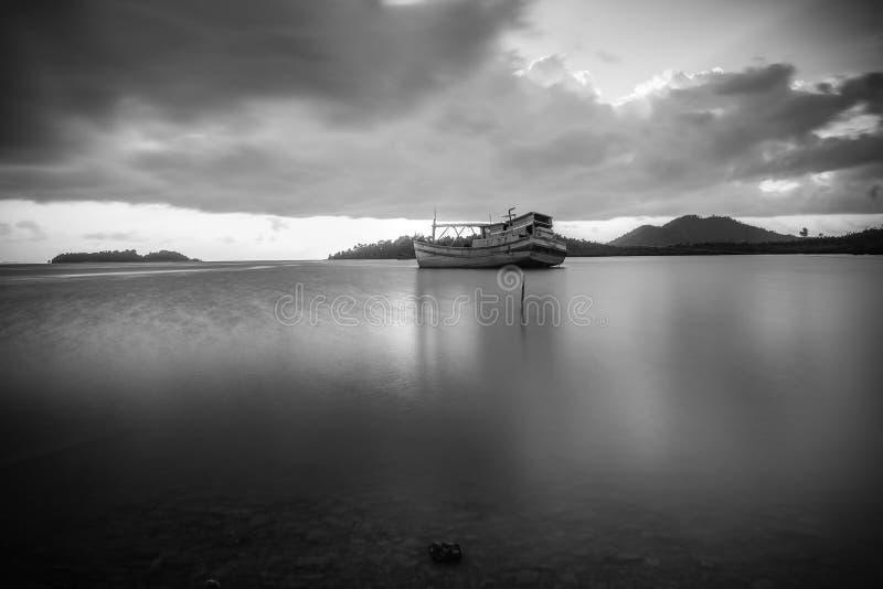 BlackWhite Landscape Photos at Bintan batam Island. Indonesia stock photography